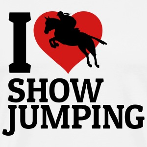 I love showjumping T-Shirts - Men's Premium T-Shirt