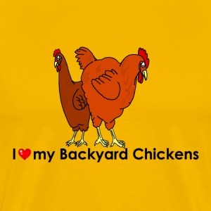 I Heart My Backyard Hens - Men's Premium T-Shirt