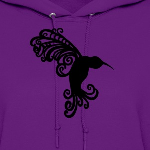 Decorative Hummingbird Silhouette  - Women's Hoodie