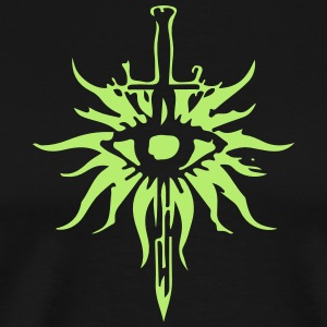 Inquisition Symbol Shirt (Green & Black) - Men's Premium T-Shirt