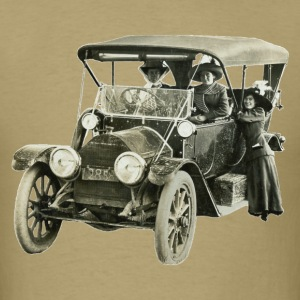 Vintage 1912 Cadillac Automobile with Woman Driver - Men's T-Shirt