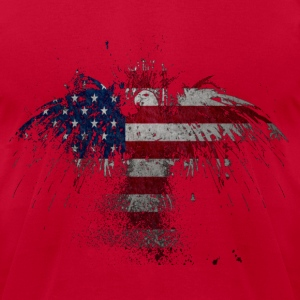 American Eagle Flag T-Shirts - Men's T-Shirt by American Apparel