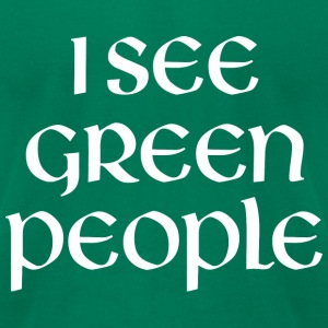 I See Green People - Men's T-Shirt by American Apparel