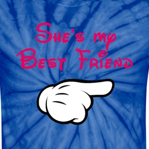 My BFF Mickey hand pointing left - Unisex Tie Dye T-Shirt
