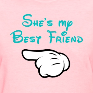 My BFF Mickey hand pointing right Women's T-shirt - Women's T-Shirt