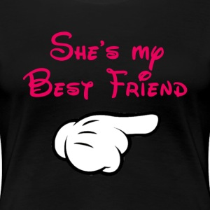 My BFF Mickey hand pointing left Plus Size Women's - Women's Premium T-Shirt