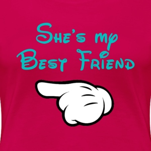 My BFF Mickey hand pointing right Plus Size Women' - Women's Premium T-Shirt