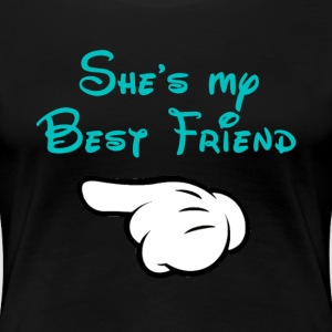 My BFF Mickey hand pointing right - Women's Premium T-Shirt