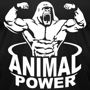 Animal power T-Shirts - Men's T-Shirt by American Apparel