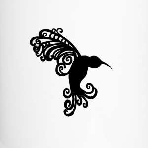 Decorative Hummingbird Silhouette - Travel Mug