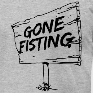 GONE FISTING - Men's T-Shirt by American Apparel