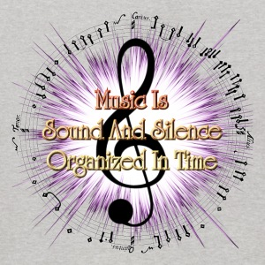 Music Is Sound And Silence Kids Hoodie - Kids' Hoodie