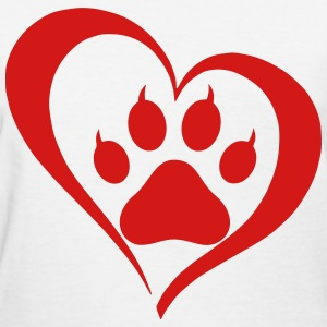 Heart Paw T-Shirts - Women's T-Shirt