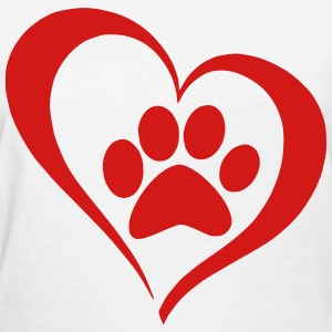 Paw Heart T-Shirts - Women's T-Shirt