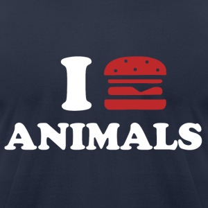 I LOVE ANIMALS - Men's T-Shirt by American Apparel