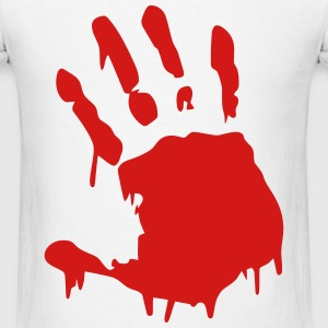 Hand Print Bloody T-Shirts - Men's T-Shirt