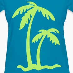 Palm Tree Island Women's T-Shirts