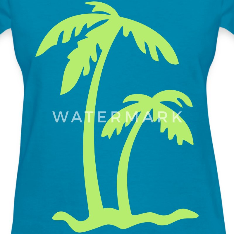 Palm Tree Island Women's T-Shirts - Women's T-Shirt