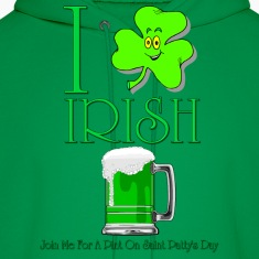 I Love Irish Beer Men's Hooded Sweatshirt