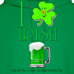 I Love Irish Beer Men's Hooded Sweatshirt - Men's Hoodie