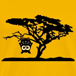 Owl Tree Hanging upside Different T-Shirts - Men's Premium T-Shirt
