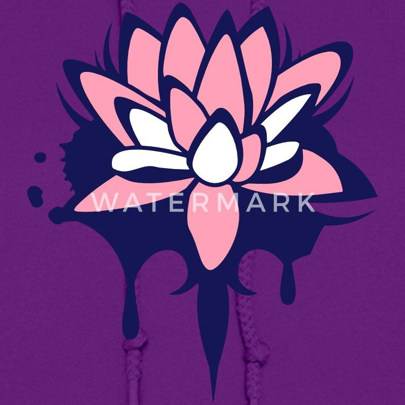 Lotus flower graffiti Hoodie | Spreadshirt