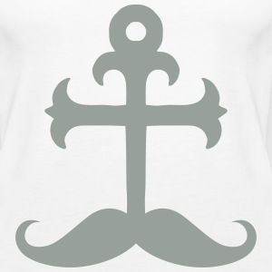 Anchor Moustache Tanks - Women's Premium Tank Top