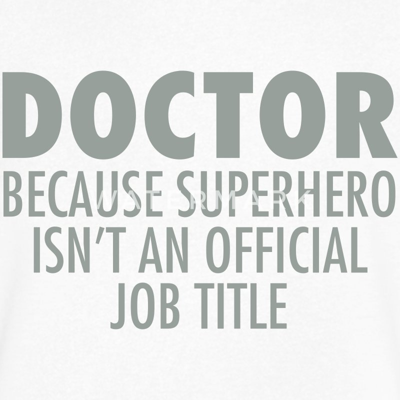 Doctor - Superhero T-Shirts - Men's V-Neck T-Shirt by Canvas