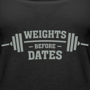 Weights Before Dates Tanks - Women's Premium Tank Top