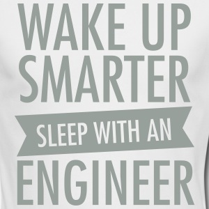 Wake Up Smarter - Sleep With An Engineer Long Sleeve Shirts - Men's Long Sleeve T-Shirt by Next Level