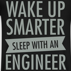 Wake Up Smarter - Sleep With An Engineer T-Shirts - Men's V-Neck T-Shirt by Canvas