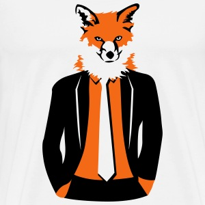 fox in suit T-Shirts - Men's Premium T-Shirt