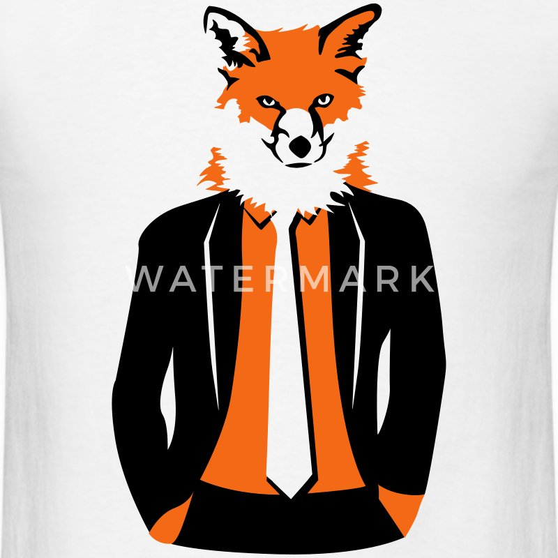 fox in suit T-Shirts - Men's T-Shirt