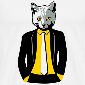 Cat in Business Suit T-Shirts - Men's Premium T-Shirt