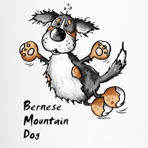 Funny Jumping Bernese Mountain Dog Mugs & Drinkware - Travel Mug