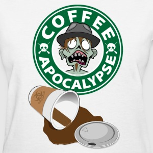 The Coffee Apocalypse Hipster Guy Women's T-Shirts - Women's T-Shirt
