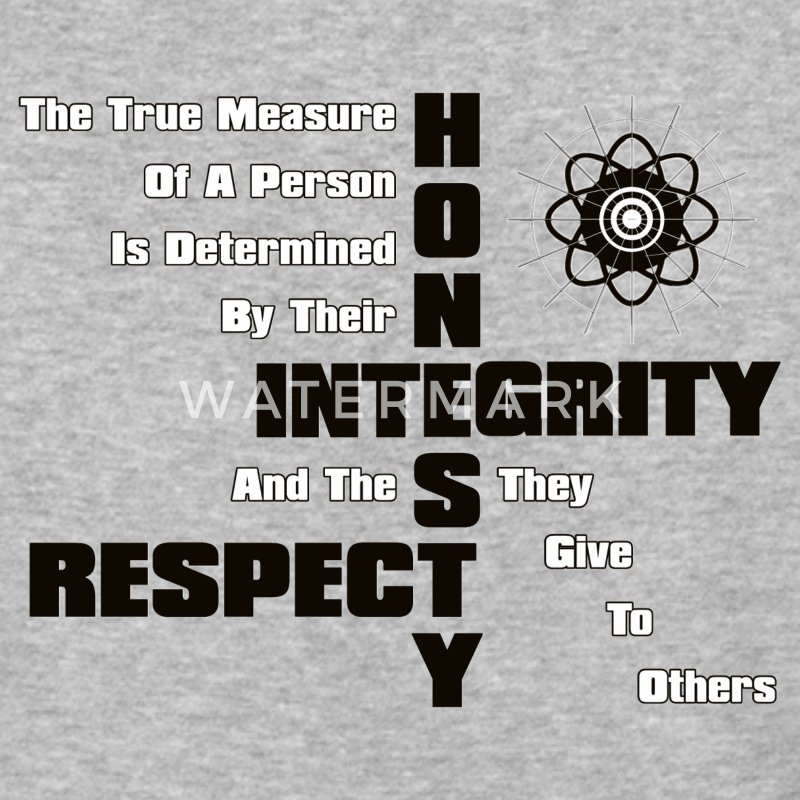Honesty Integrity Respect Men's Baseball T-Shirt - Baseball T-Shirt