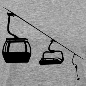 Evolution ski lift Shirt - Men's Premium T-Shirt