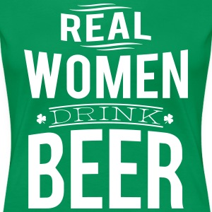 Real women drink beer Women's T-Shirts - Women's Premium T-Shirt