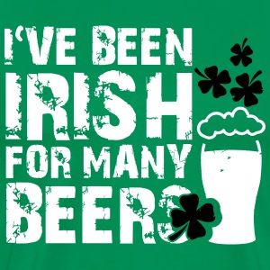 I've been irish for many beers T-Shirts - Men's Premium T-Shirt