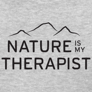 Nature is my therapist in black Women's T-Shirts - Women's T-Shirt