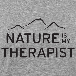 Nature is my therapist in black T-Shirts - Men's Premium T-Shirt
