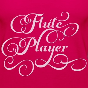 Flute Player Script Tanks - Women's Premium Tank Top