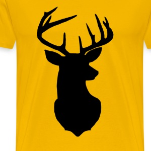 silhouette deer - Men's Premium T-Shirt
