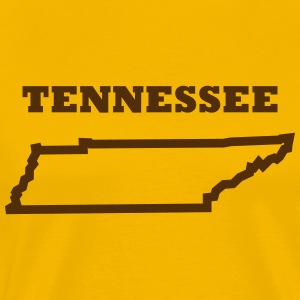 Tennessee Outline (Thick) T-Shirt - Men's Premium T-Shirt