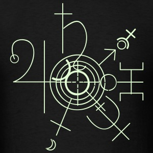 The Universe in Symbols (Glows) - Men's T-Shirt