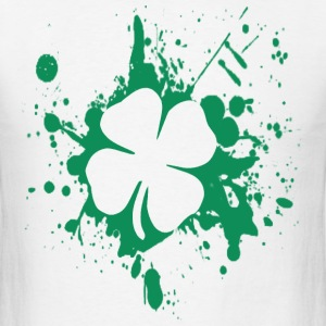 splatter clover - Men's T-Shirt
