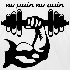 NO PAIN NO GAIN T-Shirts - Men's T-Shirt by American Apparel