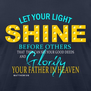 Let Your Light Shine - Men's T-Shirt by American Apparel
