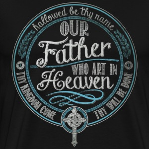Our Father Jesus Prayer - Men's Premium T-Shirt